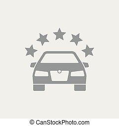automobilistico, simbolo, premio, icona