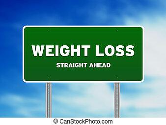 autostrada, peso, segno, perdita