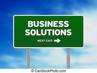 autostrada, soluzioni, segno, affari