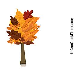autunno, albero, bello