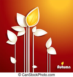 autunno, astratto, carta, foglie