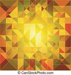 autunno, astratto, colori, fondo, geometrico