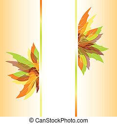 autunno, astratto, foglie, fondo