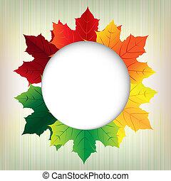 autunno, bolla, foglie, discorso