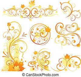 autunno, disegnare elemento