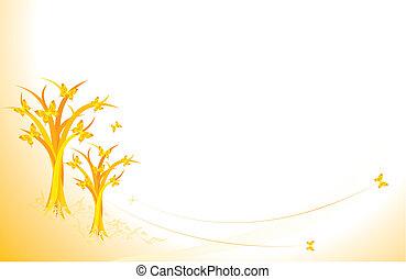 autunno, farfalle
