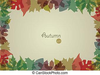 autunno, fondo., vettore