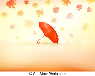 autunno, fondo, vettore