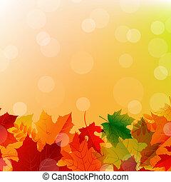 autunno parte, disposizione