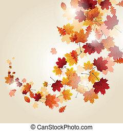 autunno parte, vettore