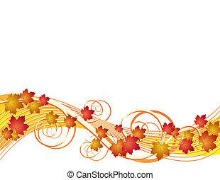 autunno parte, volare, fondo
