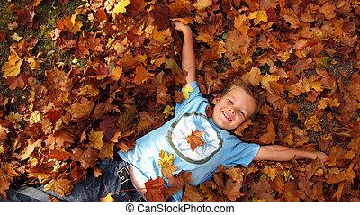 autunno, ragazzo