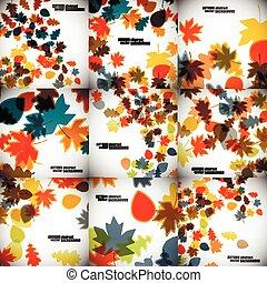 autunno, set, sfondi