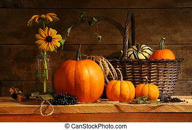 autunno, vita, ancora