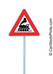 avanti, barriera, livello, segno, senza, cancello incrocio, ferrovia, o
