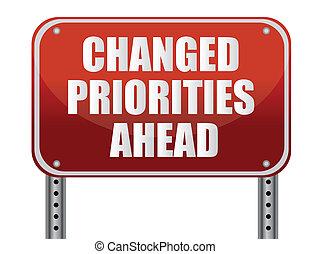 avanti, changed, priorities