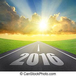 avanti, nuovo, concetto, 2016, anno