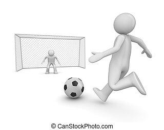 avanti, penalità, calcio, zona