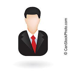 avatar, uomo affari, avvocato