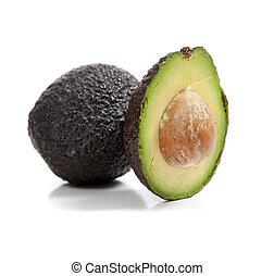 avocado, sfondo bianco