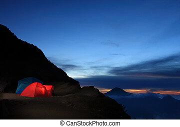avventura esterna, campeggio