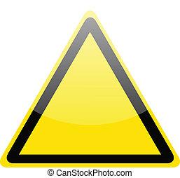 avvertimento, giallo, azzardo, vuoto