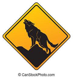 avvertimento, lupo