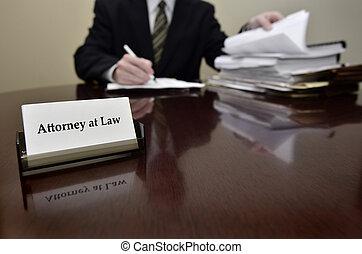 avvocato, scheda, affari, scrivania