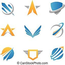 azione, logotipo, icona