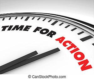 azione, tempo, -, orologio