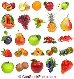 bacche, set, frutte