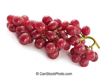 bacche, uva, maturo, succoso, grande, rosso