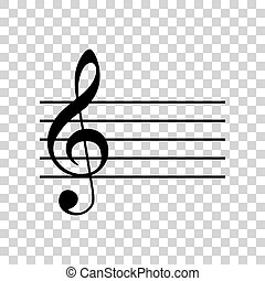 backgr, g-clef., segno., musica, violino, icona, chiave, trasparente, nero