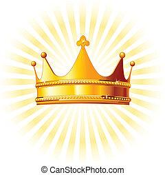 backgroun, corona dorata, ardendo
