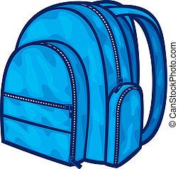 (backpack, borsa, scuola, bag), pacco