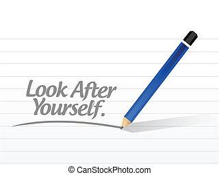 badare, illustrazione, te stesso, disegno, messaggio