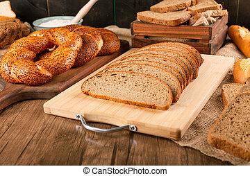 bagel, bread, fette, saporito