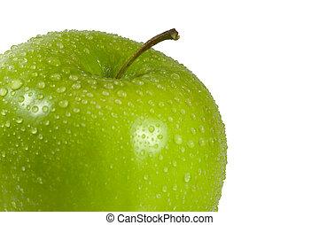 bagnato, mela verde