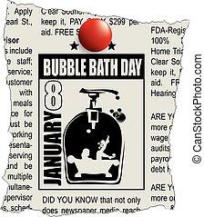 bagno, bolla, giornale, classifieds