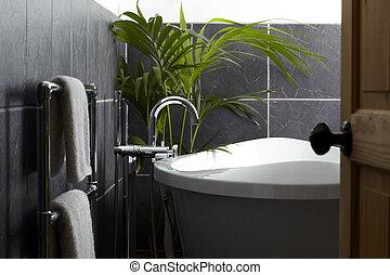 bagno, contemporaneo, vista