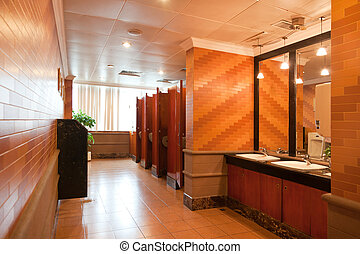 bagno, lusso, pubblico, interno