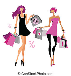 bags., shopping, donne