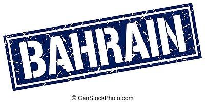 bahrain, quadrato blu, francobollo