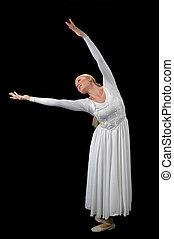 ballerina, esteso, braccia