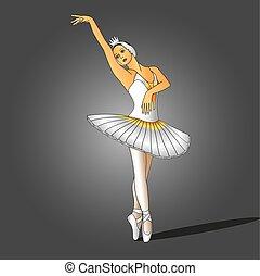 ballerina, vestito bianco
