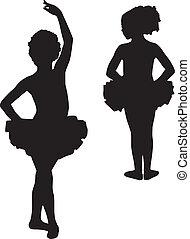ballerine, silhouette, felice