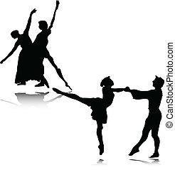 balletto, vettore, illustrazione