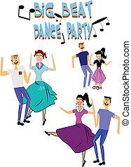 ballo, festa, anni cinquanta