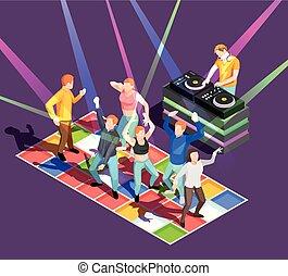 ballo, illustrazione, persone