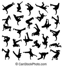 ballo rottura, silhouette